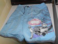 SO COOL! MENS Vintage Quiksilver Board Shorts just $25..Mens 34 REG