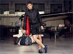 Julian Schneyder models a sporty look from Louis Vuitton's 2017 America's Cup collection.