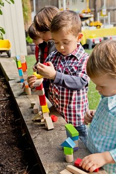 construction party toddler station play... building blocks