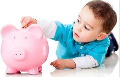 Teaching kids good money habits sets them up to be wise with money & manage it well. Here are six things to teach kids about money, right from the start. Child Savings Account, Savings Bank, Mo Money, Money Tips, Raise Money, Money Fast, Teaching Kids, Kids Learning, Emergency Loans