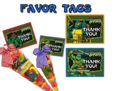 INSTANT DOWNLOAD Teenage Mutant Ninja Turtles by PartyMakeover, $5.00