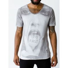 RELIGION CLOTHING LIVE FAST TONGUE T SHIRT - Religion Clothing - Brands