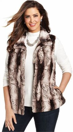49.49$  Watch here - http://vibnq.justgood.pw/vig/item.php?t=yhx61y59254 - Woman's faux Fur vest, brown, size 10. Poyester, machine wash. 49.49$