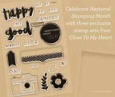 Hello, Life! Scrapbook stamp set celebrating National Stamping Month - only available Sept. 2015. #ctmh #camera
