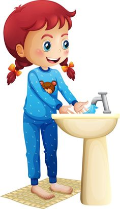 Buy Girl washing her face by interactimages on GraphicRiver. Illustration of a cute little girl washing her face on a white background School Clipart, Cute Little Girls, Cartoon Images, Kids Education, Pre School, Classroom Decor, Preschool Activities, Caricature, Cartoon Characters