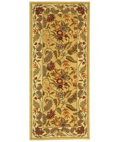 @Overstock - Transitional rug complements your home decor Handmade floor rug features a floral ivory background Runner is hand-hooked from a 100-percent wool pilehttp://www.overstock.com/Home-Garden/Handmade-Paradise-Ivory-Wool-Rug-26-x-6/3031115/product.html?CID=214117 $73.99