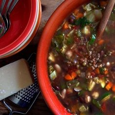 Minestrone! http://www.italianharvest.com/product/451/recipes-soup-stew-legumes
