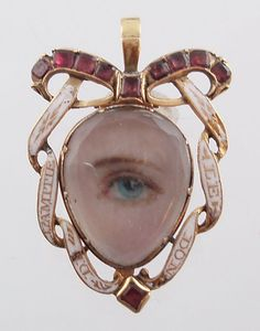Miniature eye portrait, c. 1790s. wealthy british lovers exchanged 'eye miniatures…' love tokens so clandestine that even now it is almost impossible to identify their recipients or the people they depict. they were meant to be worn inside the lapel, near the heart//
