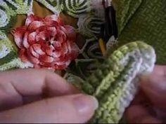 Tutorial folha de crochê com relevo