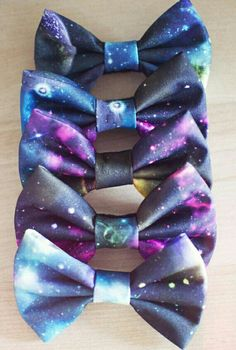 Spacey Light Hair Bows