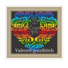 Love Cross Stitch PATTERN Love patterns by ValentiCrossStitch