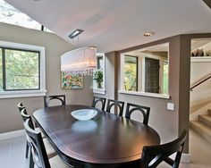 Contemporary Dining Room Idea In Other With Gray Walls Mdash...