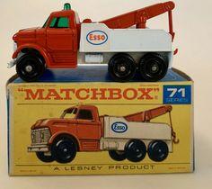 Lesney 1968 Matchbox 71 Red Ford Diesel Esso WRECK TRUCK & Original BOX #Matchbox #Ford