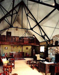 Interior of Harvey Eli's designed Crabtree Farms.  Stickley Furniture