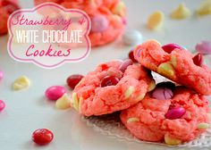 Strawberry and White Chocolate Cake Mix Cookies Recipe