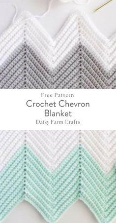 Free Pattern - Crochet Chevron Blanket #CrochetIdeas