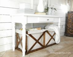 Thrifty and Chic: Project Knock-off Series: PB Wood and Canvas Crate