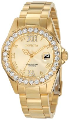 93% Discount: Invicta Women's Gold Plated Stainless Steel Watch