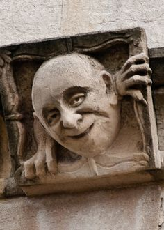 Lincoln College gargoyle, Oxford, greeting card by David Ross