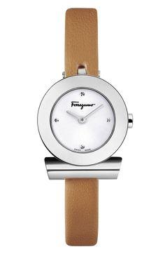 フェラガモ☆Gancino Leather Bracelet Watch, 22mm☆腕時計 商品名:Gancino Leather Bracelet d2991fbc334