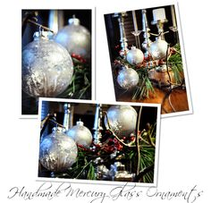 Under The Table and Dreaming: Handmade Mercury Glass Ornaments by Emily at Finding My Aloha {Ornament No. 8}