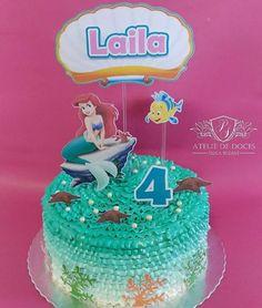 Ahhhh.... 💚💚 Adoro bolos da Pequena Sereia! Eu ia ter uma filha chamada Ariel e sabia todas as músicas de cor! 😂😍 Esse foi pra linda Laila! Parabéns princesa! 💚💚 Topper Cake @celebre_atelie_de_festas  #apequenasereia#bolopequenasereia #instacakes#instalove#flowercake #bolosdecorados#aniversário #vigorbrasil#flowercakebrasil #confeitaria#wiltoncakes #bolosartísticos#arte #cakedecorating#bolodelicado #cakelovers #gourmet #vintageofficial#cakestagram #desserts#candymelts…
