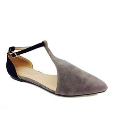Another great find on #zulily! Gray Ernestine D'Orsay Flat #zulilyfinds