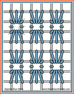 Algerian Eye Stitch #NeedlepointStitch