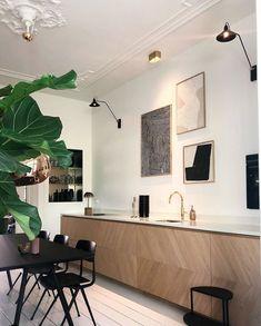 Contemporary Kitchen Design, Interior Design Kitchen, Interior Exterior, Interiores Design, Apartment Living, Home Decor Inspiration, Home Kitchens, Furniture Design, House Design