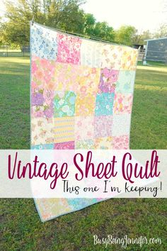 I've been snuggling and relaxing under this vintage sheet quilt most of the weekend and its the perfect blanket to cozy up and read away the weekend!