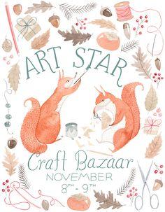 Art Star Bazaar Poster by Julianna Swaney