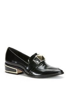 Rachel Zoe Baisley Leather Loafers Women's Black 6M