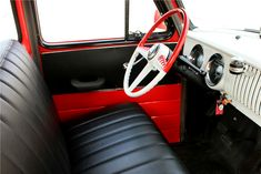 1954 CHEVROLET 3100 PICKUP - Interior - 188518 Chevy Truck Models, 54 Chevy Truck, Chevrolet 3100, Classic Chevy Trucks, Vintage Pickup Trucks, New Trucks, Cool Trucks, Barrett Jackson Auction, Collector Cars