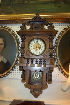 Gorgeous Antique 1890's Black Forest Hand Carved German Wall clock. Key wind....Photo via Ebay.
