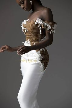 Popular with a select count of A-listers and famous to have dressed a good number of Brides who have over time constantly made headlines, the highly celebrated womenswear label TUBO has flagged her first Bridal Collection tagged, African Lace Dresses, Latest African Fashion Dresses, African Print Fashion, African Wedding Attire, African Attire, Classy Dress, Classy Outfits, Vestidos Vintage, Couture Dresses