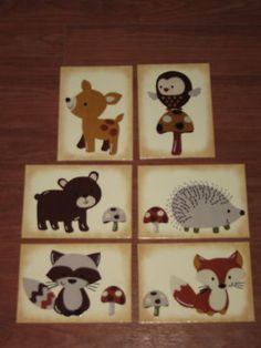I think these little critters would bring more of my husband's style into the room. And they're just darn cute!