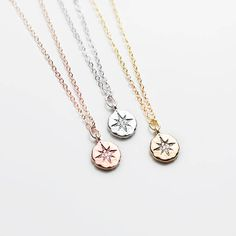 Inspirational Necklace Dainty Compass Necklace College Graduation Gift For Her Personalized Graduation Wanderlust Jewelry - DCN Bff Gifts, Best Friend Gifts, Gifts For Friends, Or Rose, Rose Gold, Graduation Gifts For Her, College Graduation, Fine Jewelry, Jewelry Making