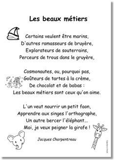 Les beaux métiers - Jacques Charpentreau - récitation - poésie -