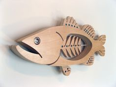 Largemouth Bass Sculpture Painted. $220.00, via Etsy.