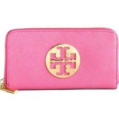 pink tory burch wallet