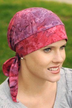 Cotton Batik Headwrap - Cancer Patient Du Rag, Chemo Head Wrap