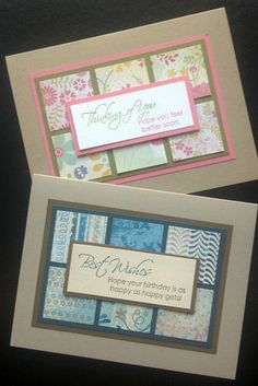 Create Your Own Card Kit 6 Get Well Birthday Cards Stampin' Up | eBay
