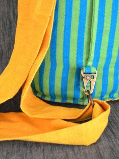 The SackPack - Metal detailing of the Cotton Handloom Bag made in Sri Lanka School Bags, Sri Lanka, Bag Making, Artisan, Handbags, Metal, Creative, Cotton, Collection