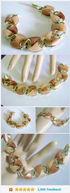 Mid Century Thermoset Modernist Bracelet / Beige-Brown Tones / Goldtone / Vintage Jewelry / Jewellery https://www.etsy.com/JoysShop/listing/537655738/mid-century-thermoset-modernist-bracelet?ref=listings_manager_grid