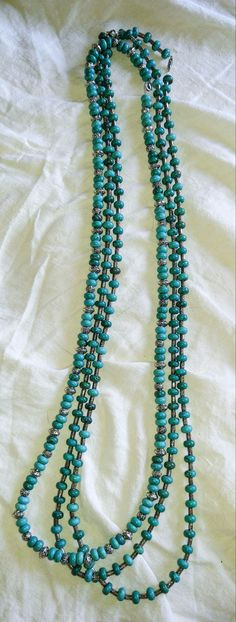 Long Turquoise and Silver