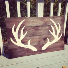 Hey, I found this really awesome Etsy listing at https://www.etsy.com/listing/202115598/reclaimed-wood-antler-wall-art