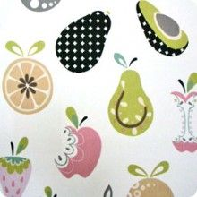 What a cute print for possible kitchen curtains