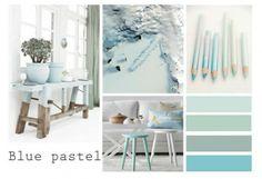 Heavenly bleu, kleurinspiratie: prachtige blauwe pastel tint Door AnitaNoot