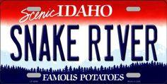 Snake River Idaho Background Novelty Metal License Plate