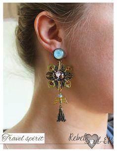 Long chandelier filigree earrings tassel earrings travel